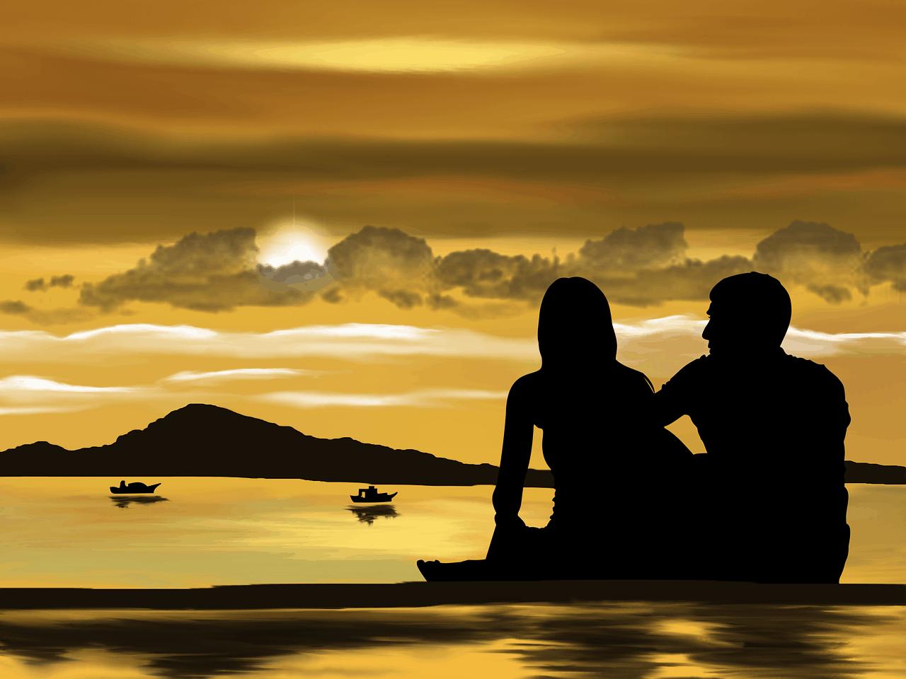 זוג בחופשה על ספת הים