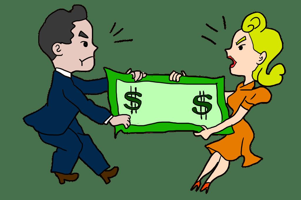 זוג בריב על כסף