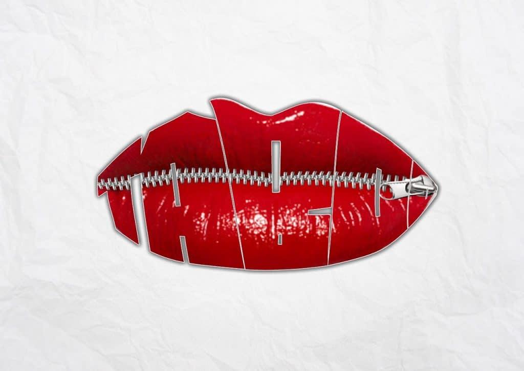 שפתיים חתומות ברוכסן