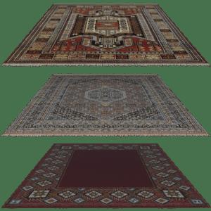 שלוש שטיחים פרסיים